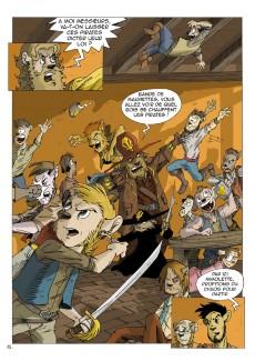 Extrait de Les rocambolesques aventures de Don Quenotte et Pedro Salsa -1- Des souris et des pirates