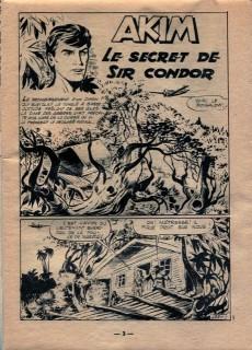 Extrait de Akim (1re série) -123- Le secret de Sir Condor