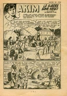 Extrait de Akim (1re série) -234- La guerre sans merci - La grande pluie
