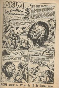 Extrait de Akim (1re série) -89- Le cimetière des Dinosaures