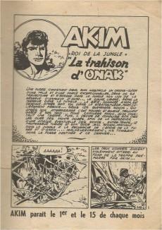 Extrait de Akim (1re série) -108- La trahison d'Onak