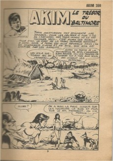 Extrait de Akim (1re série) -359- Le trésor de Baltimore