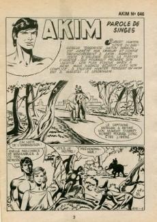 Extrait de Akim (1re série) -646- Parole de singes