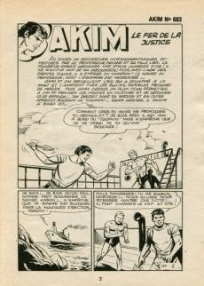 Extrait de Akim (1re série) -683- Le fer de la justice