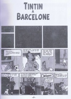 Extrait de Tintin - Pastiches, parodies & pirates - Tintin à Barcelone