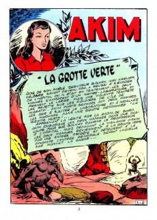 Extrait de Akim-Color -7- La grotte verte