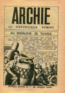 Extrait de Atoll -10- Archie - Au Royaume de Taweg