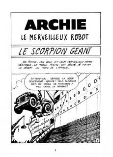 Extrait de Archie (Le merveilleux robot) -4- Le scorpion géant