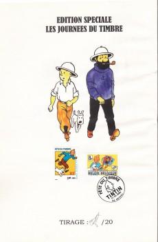 Extrait de Tintin - Divers - Le crabe aux pinces d'or - Fête du timbre