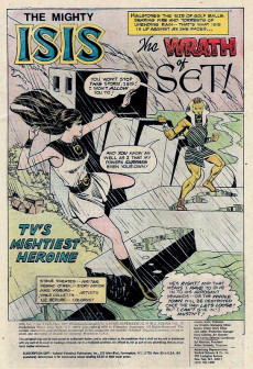 Extrait de Mighty Isis (The) (DC comics - 1976) -3- The Wrath of Set