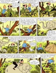 Extrait de Tintin - Pastiches, parodies & pirates -'- Tintin en Afrique