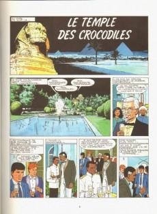 Extrait de Bob Morane 3 (Lombard) -42a95- Le temple des crocodiles