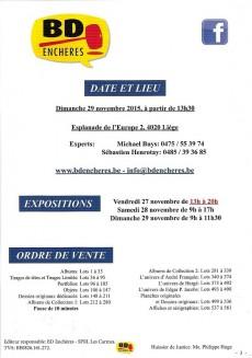 Extrait de (Catalogues) Ventes aux enchères - Divers - BD enchères ! - dimanche 29 novembre 2015 - Liège Palais des Congrès