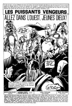 Extrait de Les vengeurs (Éditions Héritage) -7273- Allez dans l'Ouest, jeunes dieux!