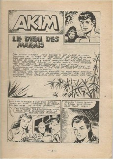 Extrait de Akim (1re série) -154- Le dieu des marais