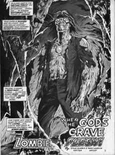 Extrait de Tales of the Zombie (Marvel comics - 1973) -1- Altar of the Damned