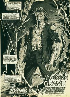 Extrait de Tales of the Zombie (Marvel comics - 1973) -3- When the Gods Crave Flesh