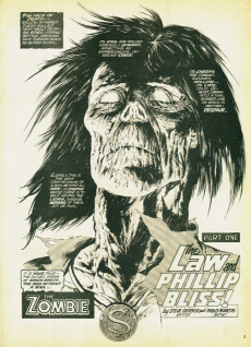 Extrait de Tales of the Zombie (Marvel comics - 1973) -4- The Law and Phillip Bliss