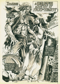 Extrait de Tales of the Zombie (Marvel comics - 1973) -8- The graveyard horror