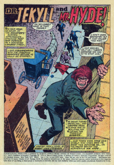 Extrait de Supernatural Thrillers (Marvel - 1972) -4- Dr. Jekyll and Mr. Hyde!