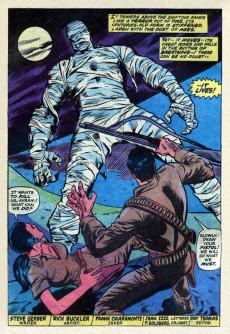 Extrait de Supernatural Thrillers (Marvel - 1972) -5- The Living Mummy: the revenge of the monster!