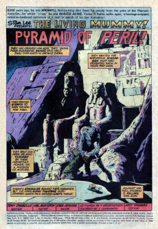 Extrait de Supernatural Thrillers (Marvel - 1972) -9- Pyramid of the Watery Doom!