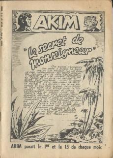 Extrait de Akim (1re série) -102- Le secret de monseigneur