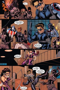 Extrait de Young Avengers presents (2008) -INT- Patriot - Hulkling - Wiccan - Speed - Vision - Stature - Hawkeye