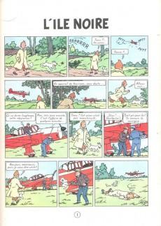 Extrait de Tintin (Historique) -7C8- L'île noire