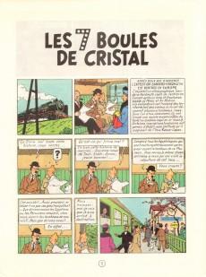 Extrait de Tintin (Historique) -13C3bis- Les 7 boules de cristal