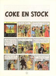 Extrait de Tintin (Historique) -19C3ter- Coke en stock