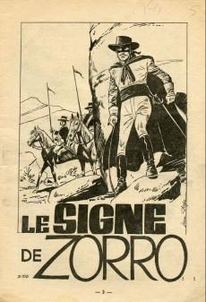 Extrait de Zorro (SFPI) -150- Le signe de zorro