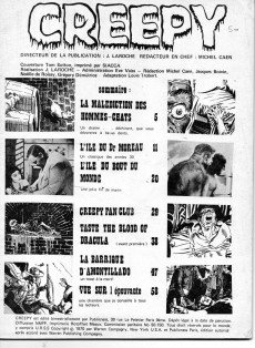 Extrait de Creepy (Publicness) -4- L'île du bout du monde.... - La malédiction des hommes chats !