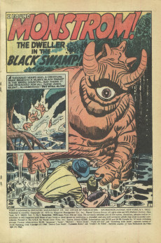 Extrait de Adventure into Fear (Marvel comics - 1970) -1- I Found Monstrom, The Dweller in the Black Swamp!