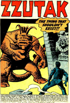 Extrait de Adventure into Fear (Marvel comics - 1970) -3- Zzutak the Thing That Shouldn't Exist!!