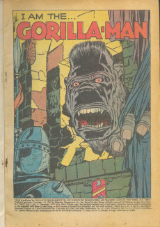 Extrait de Adventure into Fear (Marvel comics - 1970) -5- I Am the Gorilla- Man!