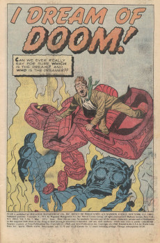 Extrait de Adventure into Fear (Marvel comics - 1970) -7- I Dream of Doom!