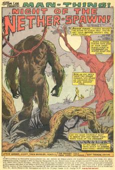Extrait de Adventure into Fear (Marvel comics - 1970) -11- The haunter of the swamp!