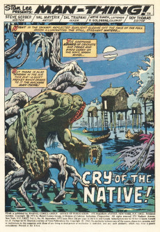 Extrait de Adventure into Fear (Marvel comics - 1970) -16- Cry of the Native