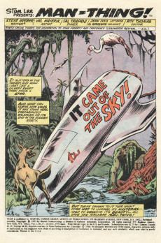 Extrait de Adventure into Fear (Marvel comics - 1970) -17- It Came Out of the Sky