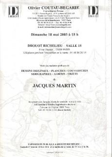 Extrait de (Catalogues) Ventes aux enchères - Coutau-Bégarie - Coutau-Bégarie - Collection Jacques Martin - dimanche 18 mai 2003 - Paris hôtel Drouot
