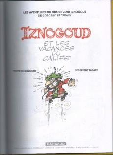 Extrait de Iznogoud -3h13- Iznogoud et les vacances du Calife