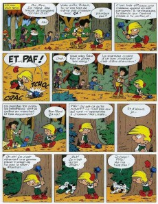 Extrait de Johan et Pirlouit -13b86- Le sortilège de maltrochu