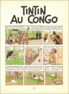 Extrait de Tintin (Historique) -2B25- Tintin au congo
