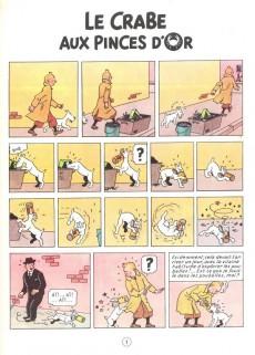 Extrait de Tintin (Historique) -9B26- Le crabe aux pinces d'or