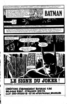 Extrait de Batman (Interpresse) -98- Le signe du Joker