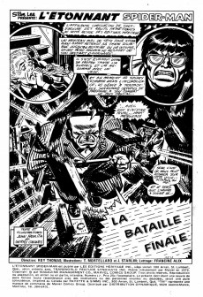 Extrait de L'Étonnant Spider-Man (Éditions Héritage) -17- La bataille finale