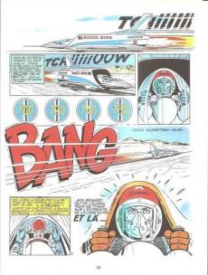 Extrait de Michel Vaillant (Dupuis) -14Pub Auto p- Mach 1 pour Steve Warson