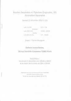 Extrait de (Catalogues) Ventes aux enchères - Vermot & Associés - Vermot & Associés - Bandes dessinées & Originaux - samedi 12 décembre 2015 - Galerie Iconoclastes