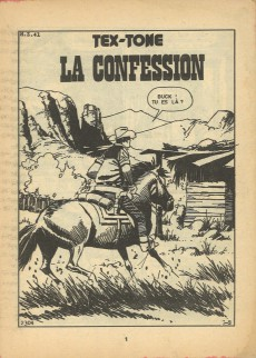 Extrait de Tex-Tone -418- La confession